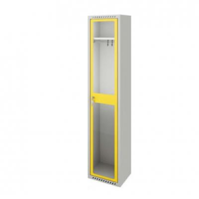 Plexi ajtós öltözőszekrény