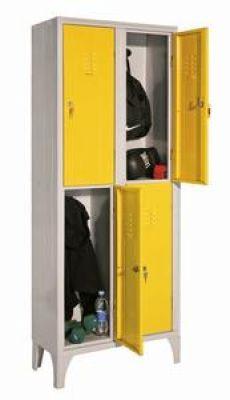 Négy rövidajtós öltözőszekrény, helytakarékos