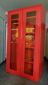 Tűzoltó öltöző szekrény